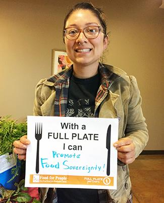 With a Full Plate I can promote food sovereignty!