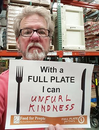 With a Full Plate I can unfurl kindness