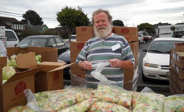 The People's Produce Market distributes free produce in four locations seasonally.